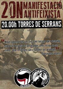 Manifestació 20N a València